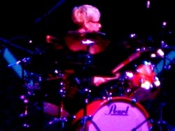 daniel figgis playing the drums, post-production