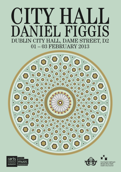 Event poster for Daniel Figgis's City Hall