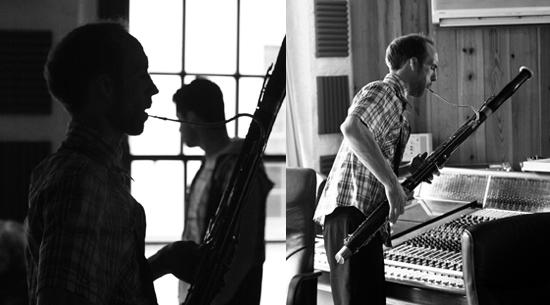 Daniel Figgis in the studio